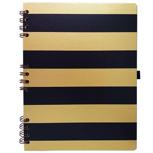 Caderno Gold e Kraft 177 Preto Ótima