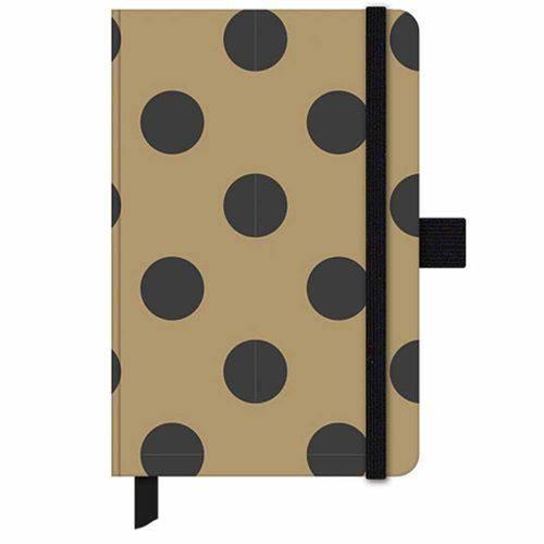 Caderno Gold e Kraft Papertalk Mini Dourado Ótima