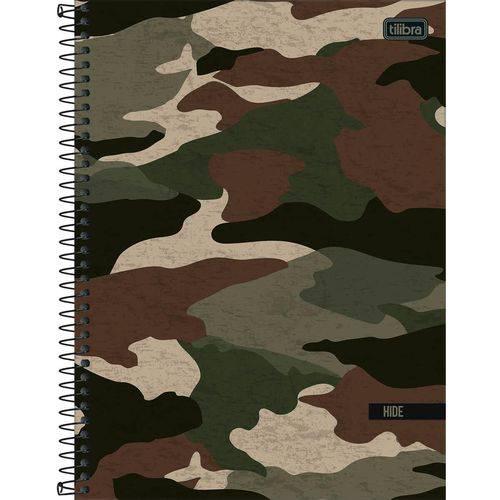 Caderno Hide Camuflado 160 Folhas 10x1 - Tilibra