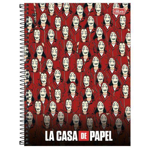 Caderno La Casa de Papel - Vermelho - 10 Matérias - Tilibra