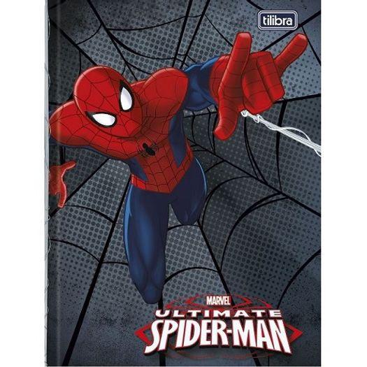 Caderno Linguagem Brochura 48 Folhas Capa Dura 143987 Spider Man Top Tilibra
