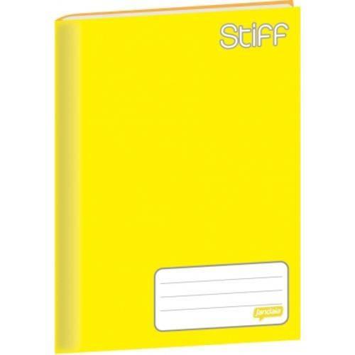 Caderno Linguagem Brochura 48f Cd 00049-11 Stiff Amarelo Jandaia