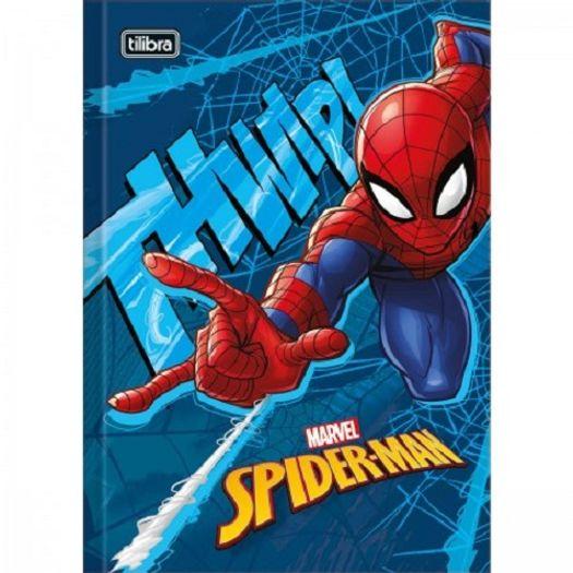 Caderno Linguagem Brochura 96 Folhas Capa Dura 141160 Spider Man Top Tilibra