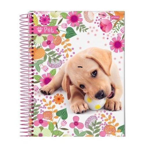 Caderno Linguagem Espiral 96 Folhas Capa Dura 54071-15 Pet Jandaia