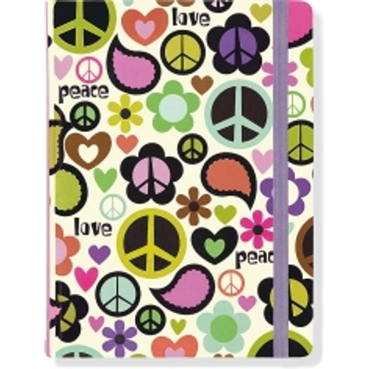 Caderno Mid Size Peace Out 4101 Journal Peter Pauper