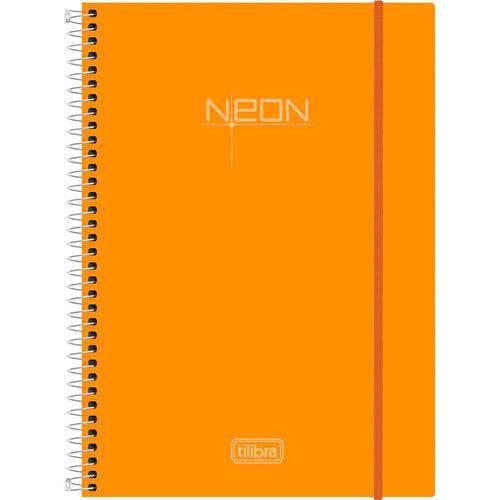 Caderno Neon Laranja 10 Materias- Tilibra