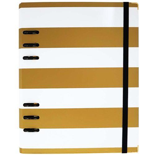 Caderno Organizador Gold Planner White Stripes Branco Ótima 1027013