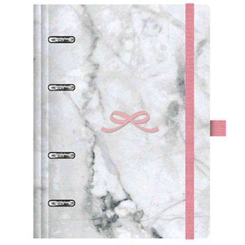 Caderno Organizador Pink Stone Planner Maxi Mármore Ótima 1025958