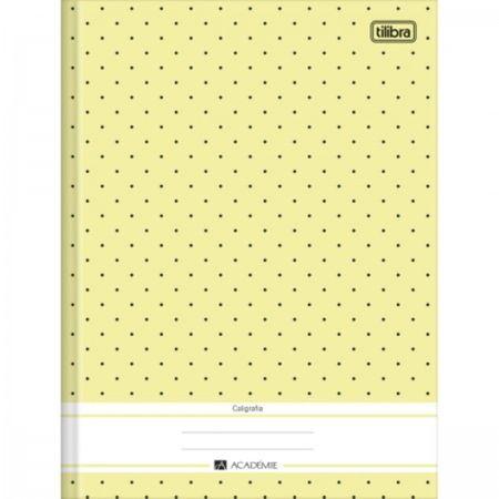 Caderno Pedagógico Caligrafia Brochura Capa Dura 40 Folhas Académie Feminino Tilibra - Amarelo