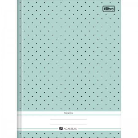 Caderno Pedagógico Caligrafia Brochura Capa Dura 40 Folhas Académie Feminino Tilibra - Azul Claro