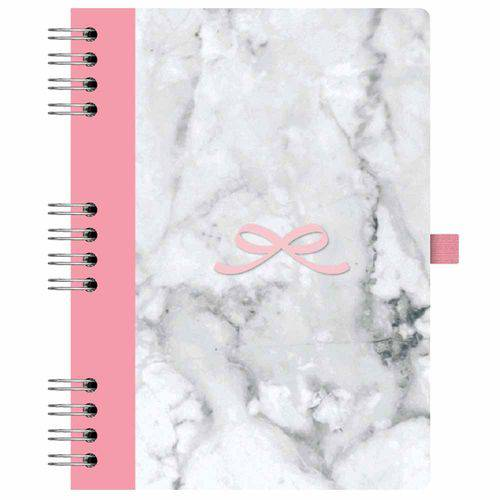 Caderno Pink Stone 177 Mármore Ótima