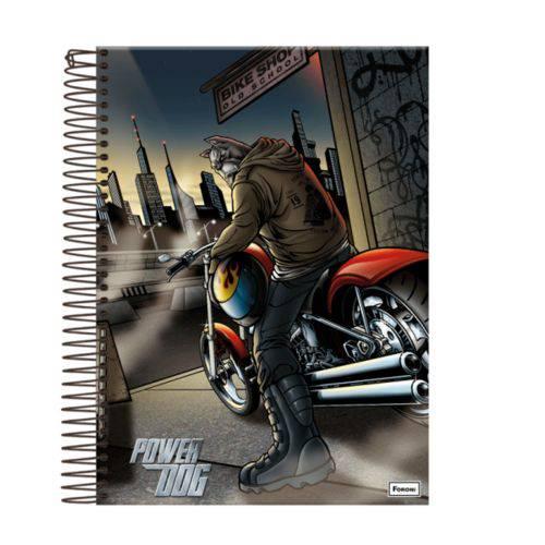 Caderno Power Dog 10 Materias 200 Folhas Foroni