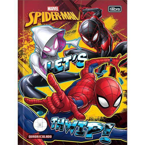 Caderno Quadriculado Univers. Spider-man 1x1cm 40 Folhas Brochura Cd Pacote com 05 Tilibra