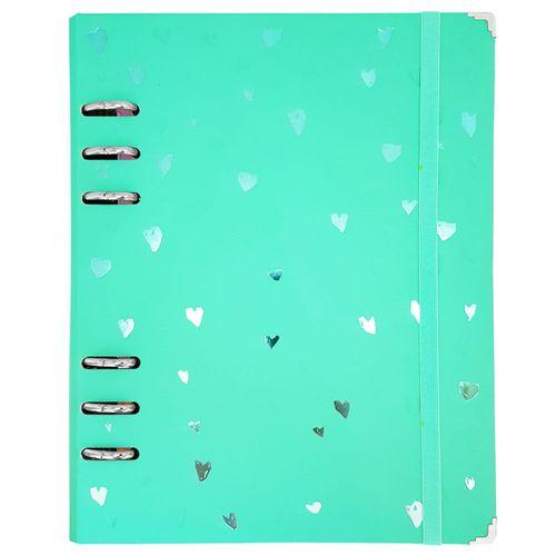 Caderno Romantic Planner A5 Verde Ótima 1028439