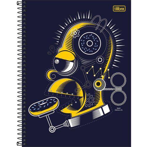 Caderno Simpsons 200 Folhas 10x1 - 200 Folhas - Tilibra - Amarelo