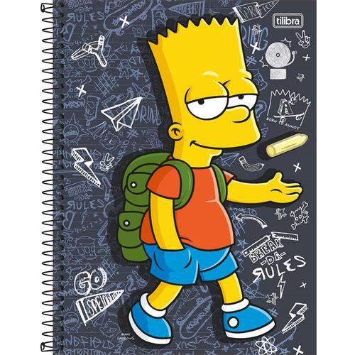 Caderno Simpsons 16x1 - 320 Folhas - Tilibra