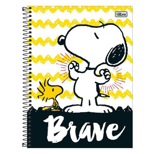 Caderno Snoopy - Brave - 10 Matérias - Tilibra