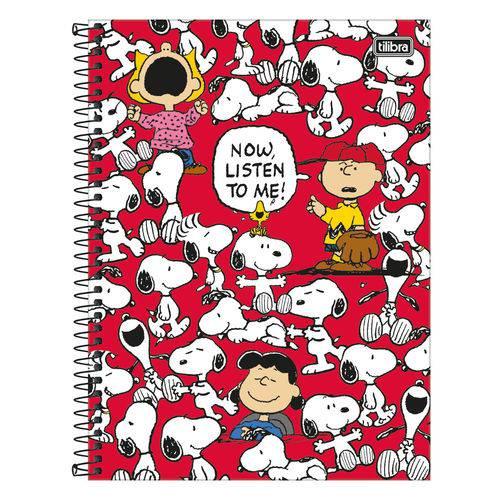 Caderno Snoopy - Now Listen To me - 10 Matérias - Tilibra