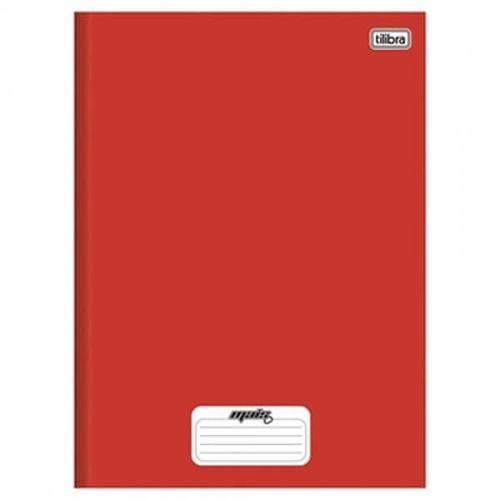 Caderno Tilibra Capa Dura Costurado 1/4 Mais + Vermelho 1 Matéria 48 Folhas (Emb. Contém 15un.)