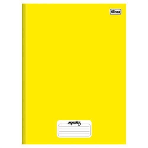Caderno Tilibra Capa Dura Costurado Amarelo 96 Folhas Emb. 5un. 1 Matéria