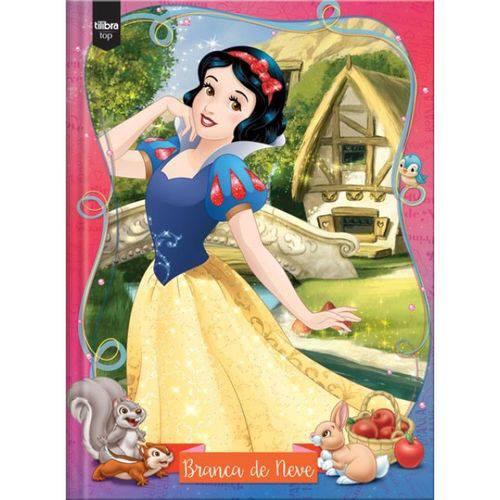 Caderno Top Universitário Princesas Branca de Neve com Capa Dura Brochura - 96 Fls -Tilibra