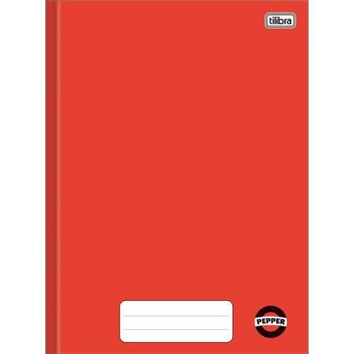 Caderno Univ. 80 Fls Vermelho Pepper Brochura Capa Dura Tilibra