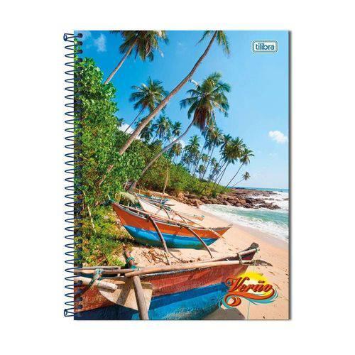 Caderno Universitário 200 Folhas Verão