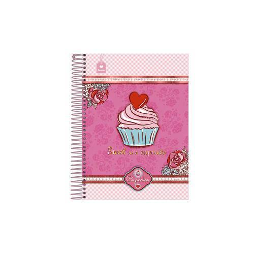 Caderno Universitário 10 Matérias Cupcake Foroni