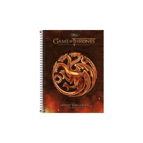Caderno Universitário 10 Matérias Game Of Thrones Tilibra
