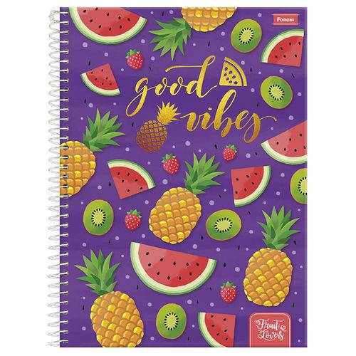 Caderno Universitário 10x1 200 Fls C.d. Foroni - Fruit Lovers 3