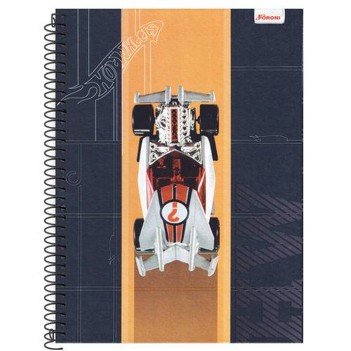 Caderno Universitário 10x1 200 Fls C.D. Foroni - Hot Wheels 5