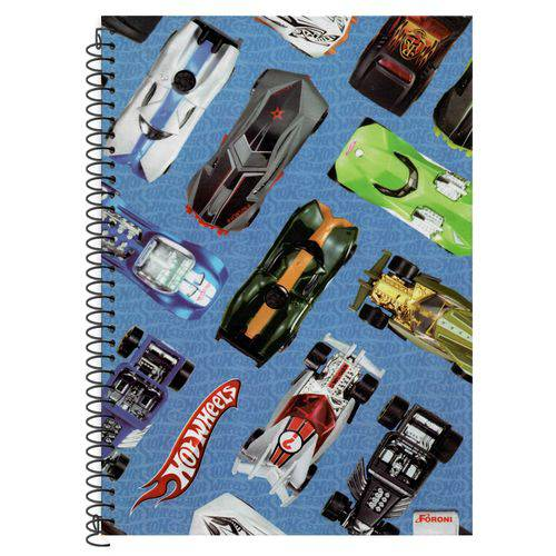 Caderno Universitário 10x1 200 Fls C.d. Foroni - Hot Wheels 7