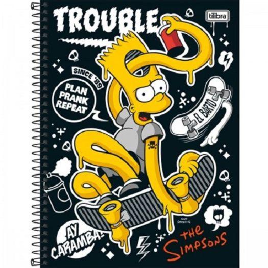 Caderno Universitário 1x1 96 Folhas Capa Dura 131121 Simpsons Tilibra