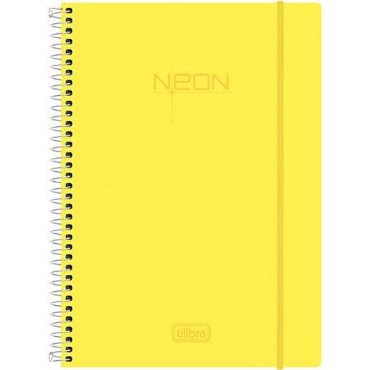Caderno Universitário 10x1 200 Folhas Neon Amarelo 141500 Tilibra