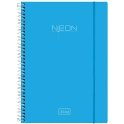 Caderno Universitário 1x1 96 Folhas Neon Azul 141429 Tilibra