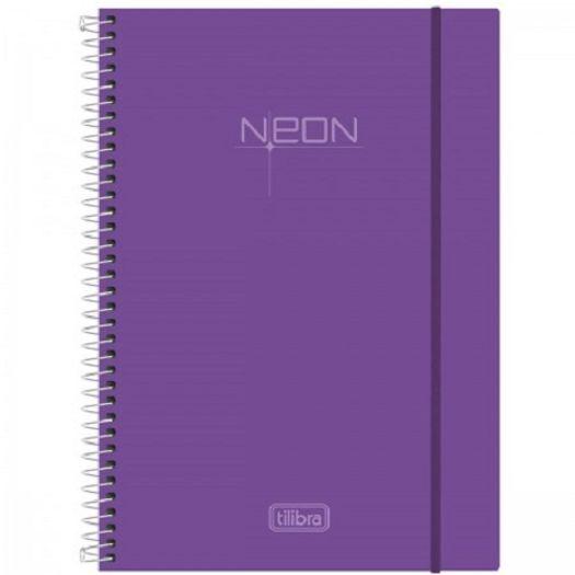 Caderno Universitário 10x1 200 Folhas Neon Lilas 141518 Tilibra