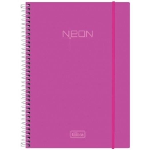 Caderno Universitário 1x1 96 Folhas Neon Rosa 141453 Tilibra