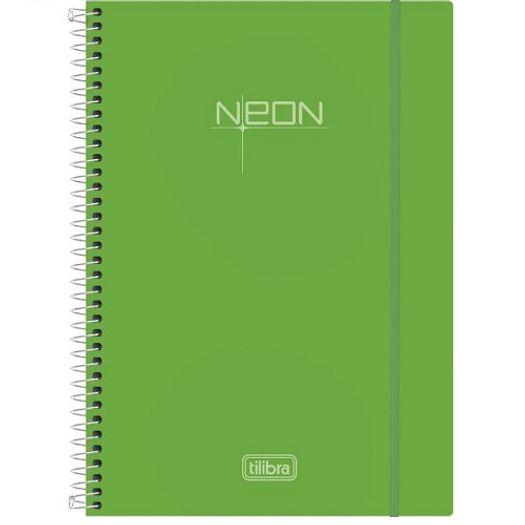 Caderno Universitário 10x1 200 Folhas Neon Verde 141526 Tilibra