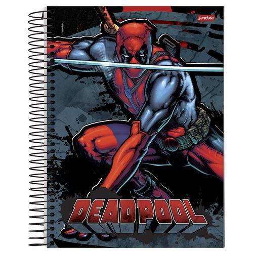Caderno Universitário 15x1 300 Fls C.d. Jandaia - Deadpool 2