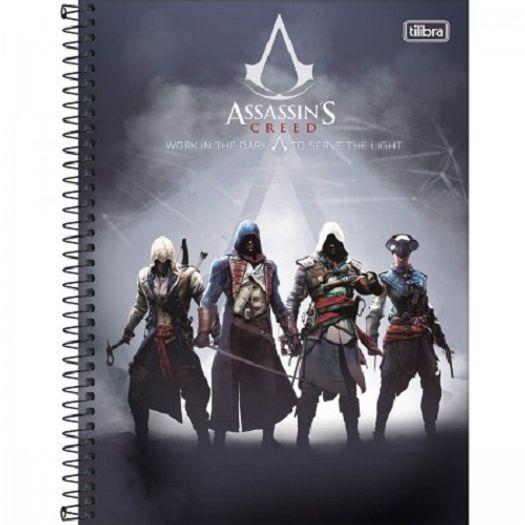 Caderno Universitário 16x1 320 Folhas Capa Dura 146692 Assassin S Creed Tilibra