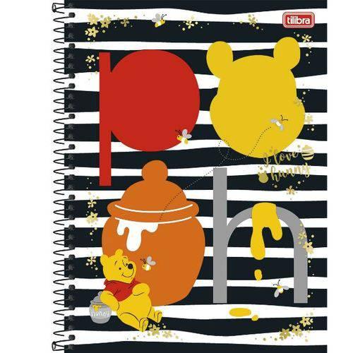 Caderno Universitário 12x1 240 Folhas Capa Dura 132306 Pooh Tilibra