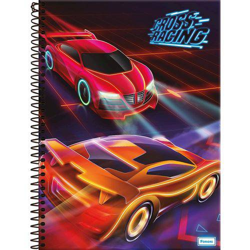 Caderno Universitário 1x1 96 Fls Cross Racing Foroni(950619)