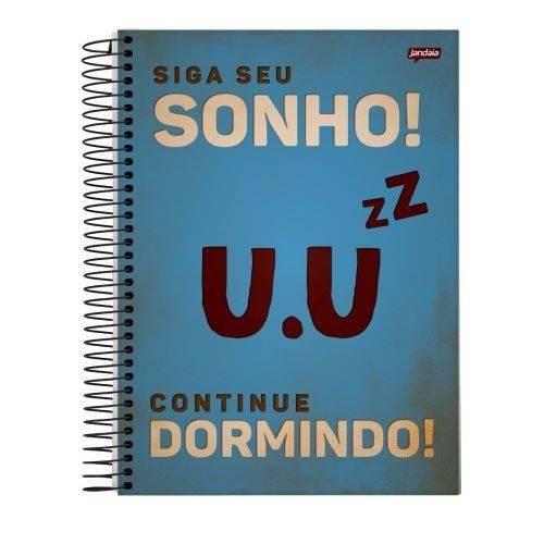Caderno Universitário 1x1 96 Folhas Capa Dura 51335-15 Placas Jandaia