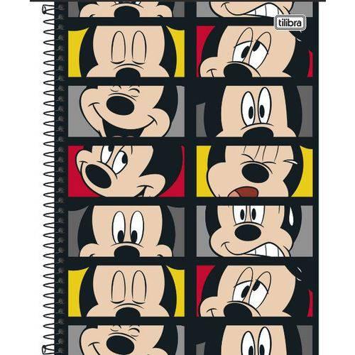Caderno Universitário 1x1 96 Folhas Cd 149675 Mickey Tilibra