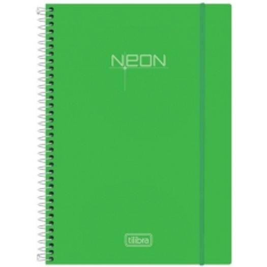 Caderno Universitário 1x1 96 Folhas Neon Verde 141488 Tilibra