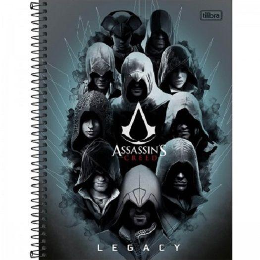 Caderno Universitário 1x1 96folhas Capa Dura 143405 Assassins Creed Tilibra