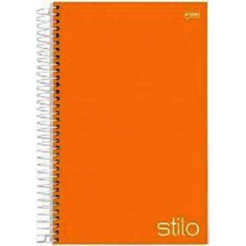 Caderno Universitário 96 Folhas Stilo Laranja