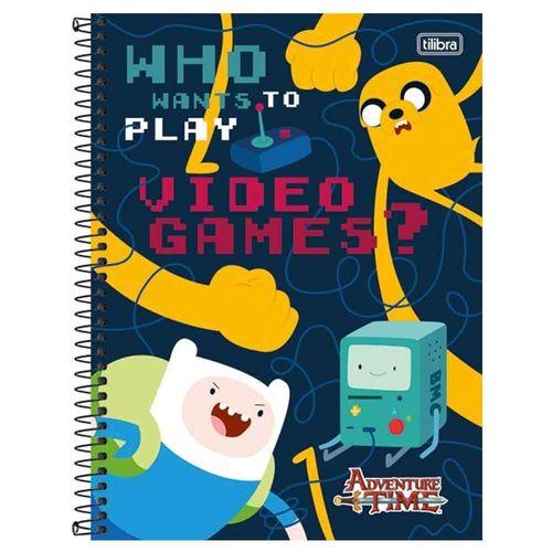Caderno Universitário Adventure Time 10 Matérias Tilibra 1017206