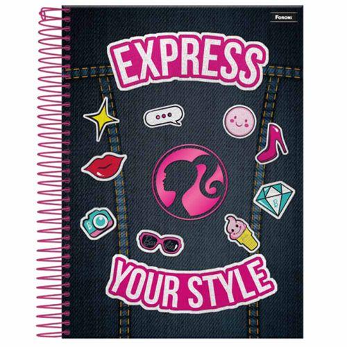 Caderno Universitário Barbie Fashion 1 Matéria Foroni 1020952