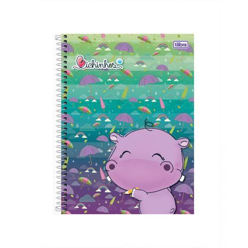 Caderno Universitário Bichinhos 200 Folhas Tilibra